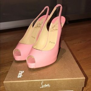 Christian Louboutin Size 37 Pink Heels (Pre-Owned)